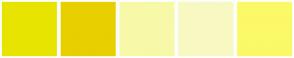 Color Scheme with #E8E401 #E8CF00 #F7F9A8 #F8F9C2 #FBF967