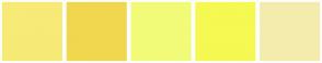 Color Scheme with #F7EA77 #F0D74F #F2FB78 #F5F952 #F4ECAD