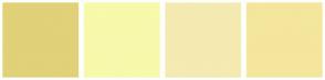 Color Scheme with #E1D179 #F7F9AB #F4EAB2 #F4E69D
