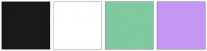 Color Scheme with #191919 #FFFFFF #7FCA9F #C497F4