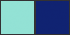 Color Scheme with #93E2D5 #102372