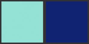 Color Scheme with #93E2D5 #102372