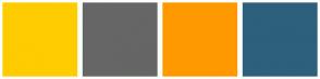 Color Scheme with #FFCC00 #666666 #FF9900 #2D607C