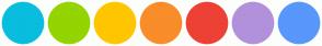 Color Scheme with #09BDDE #94D400 #FFC600 #F98D29 #EE4136 #B291DB #5897FB