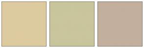 Color Scheme with #DDCB9F #C9C59C #C3AF9D