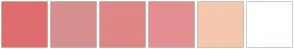 Color Scheme with #DF6D6D #D69090 #DF8686 #E58E92 #F4C7AF #FFFFFF