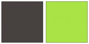 Color Scheme with #47423F #A9E345
