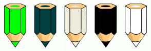 Color Scheme with #00FF00 #004040 #EEECDC #000000 #FFFFFF