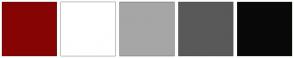 Color Scheme with #870404 #FFFFFF #A6A6A6 #595959 #080808