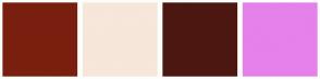 Color Scheme with #7A1F0F #F7E6DA #4D1711 #E581EB