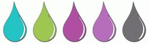 Color Scheme with #25C4C4 #9EC752 #AF4FA2 #B66EBA #716F73