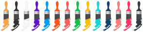 Color Scheme with #FAA440 #333333 #F8F8F8 #6114CC #009CF3 #FF5519 #F9615B #14C04D #FFBF02 #16D5D9 #144170 #FA7D78 #FF3366 #323A45
