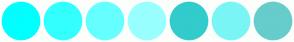 Color Scheme with #00FFFF #33FFFF #66FFFF #99FFFF #33CCCC #7AF5F5 #66CCCC