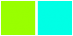Color Scheme with #99FF00 #00FFE5
