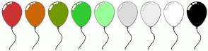 Color Scheme with #CC3333 #CC6600 #739900 #33CC33 #99FF99 #DCDCDC #EEEEEE #FFFFFF #000000