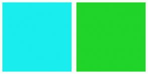 Color Scheme with #1AEDED #20D429