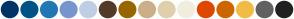 Color Scheme with #003366 #005387 #2178B5 #7895CE #C0CEE5 #533B27 #996600 #CCAF8A #DFCFAD #F1EDDF #DE4800 #CC6600 #F1BB46 #616161 #212121