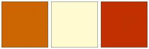 Color Scheme with #CC6600 #FFFBD0 #C13100