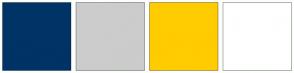 Color Scheme with #003366 #CCCCCC #FFCC00 #FFFFFF