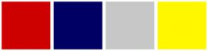 Color Scheme with #CE0000 #000063 #C7C7C7 #FFF700