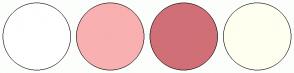 Color Scheme with #FFFFFF #F9B0B0 #D16F77 #FFFFF0