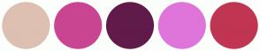 Color Scheme with #DDC0B2 #C94591 #601B4A #DF75DA #C03552