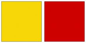 Color Scheme with #F7D708 #CE0000