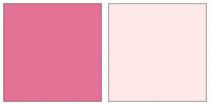Color Scheme with #E47297 #FFE9E8
