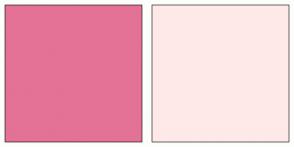 Color Scheme with #E47297 #FFE9E8