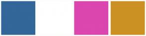 Color Scheme with #336699 #FFFFFF #DB46AF #CC9123