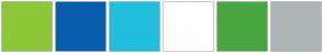 Color Scheme with #8CC739 #085DAD #21BEDE #FFFFFF #48A641 #ADB6B5
