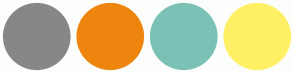 Color Scheme with #878787 #EE850E #7BC1B5 #FFF066