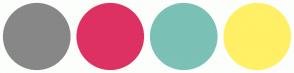 Color Scheme with #878787 #DE3163 #7BC1B5 #FFF066