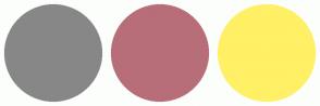Color Scheme with #878787 #B76E79 #FFF066