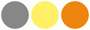 Color Scheme with #878787 #FFF066 #EE850E