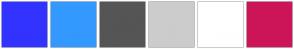 Color Scheme with #3333FF #3399FF #555555 #CCCCCC #FFFFFF #CC1559