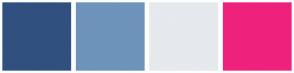 Color Scheme with #30517F #6E93BA #E6E9ED #EE227C