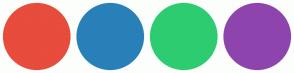 Color Scheme with #E74C3C #2980B9 #2ECC71 #8E44AD