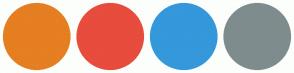 Color Scheme with #E67E22 #E74C3C #3498DB #7F8C8D