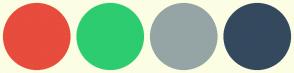 Color Scheme with #E74C3C #2ECC71 #95A5A6 #34495E