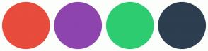 Color Scheme with #E74C3C #8E44AD #2ECC71 #2C3E50