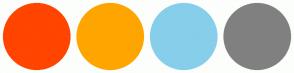 Color Scheme with #FF4500 #FFA500 #87CEEB #808080