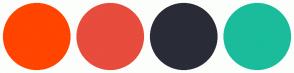 Color Scheme with #FF4500 #E74C3C #292C37 #1ABC9C