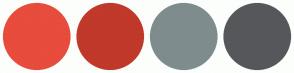 Color Scheme with #E74C3C #C0392B #7F8C8D #56575B
