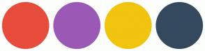 Color Scheme with #E74C3C #9B59B6 #F1C40F #34495E