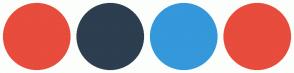 Color Scheme with #E74C3C #2C3E50 #3498DB #E74C3C