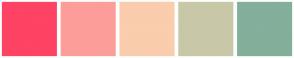 Color Scheme with #FE4365 #FC9D9A #F9CDAD #C8C8A9 #83AF9B