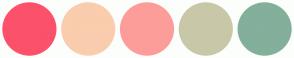 Color Scheme with #FC516B #F9CDAD #FC9D9A #C8C8A9 #83AF9B