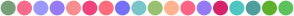 Color Scheme with #789F79 #F66D8A #9A99FB #967CF7 #F88E8F #F04480 #FF6C7B #7771F7 #7AC5CA #97C271 #FFB390 #FE6486 #967BF7 #D6246B #4FC7C0 #509F9D #5CB12B #5CC35E