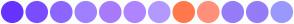 Color Scheme with #6633FF #794DFF #8C66FF #9F80FF #A87AFC #B084FF #B399FF #FF794D #FF907C #967CF7 #967BF7 #9A99FB